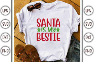 Print on Demand: Christmas Design, Santa, is My Graphic Print Templates By GraphicsBooth