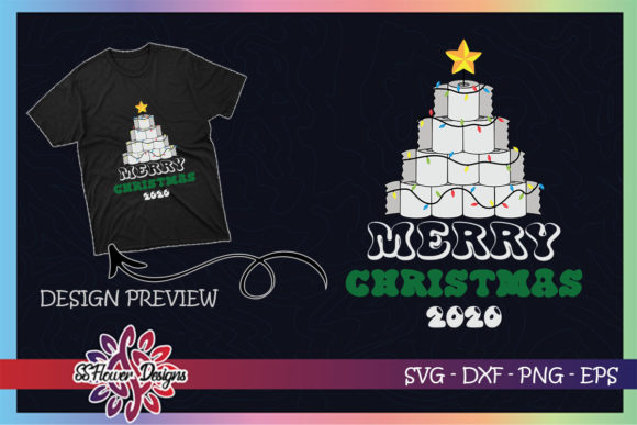 Christmas Tree by Toilet Paper Christmas Graphic Print Templates By ssflower