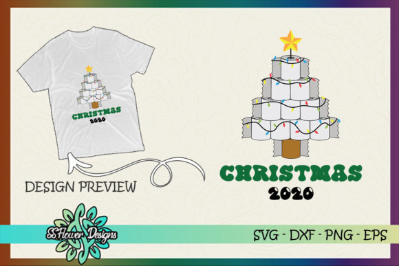 Christmas Tree by Toilet Paper Xmas 2020 Graphic Print Templates By ssflower