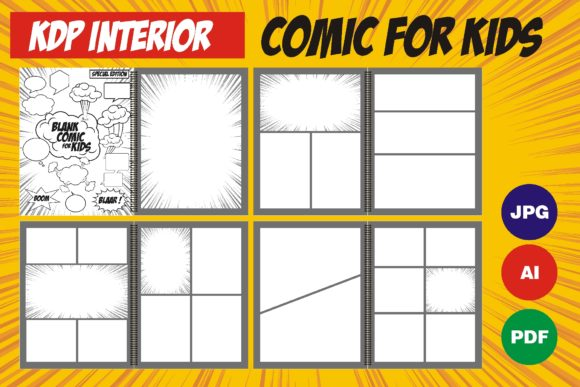 Print on Demand: Comic Template for KDP Interior Graphic KDP Interiors By edywiyonopp