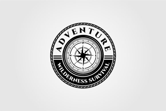Compass Logo Vector Wilderness Adventure Graphic Logos By lawoel
