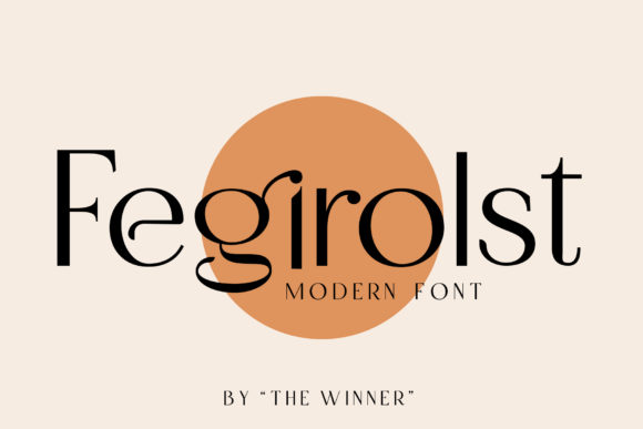 Print on Demand: Fegirolst Sans Serif Font By TheWinner