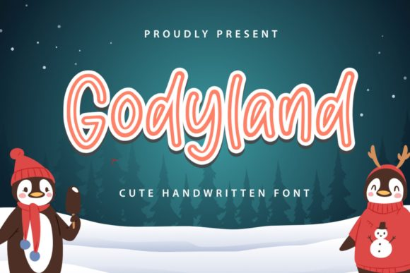 Print on Demand: Godyland Display Font By Typefar