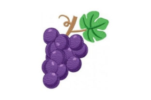 Grape Cluster Wine & Drinks Embroidery Design By Sew Terific Designs