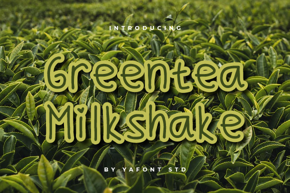 Print on Demand: Greentea Milkshake Display Font By Typekamu