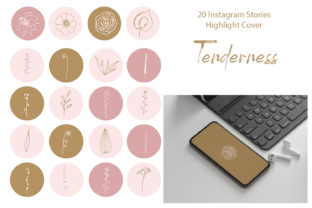 Print on Demand: Instagram Highlight Stories Cover Graphic Graphic Templates By ElenaZlataArt