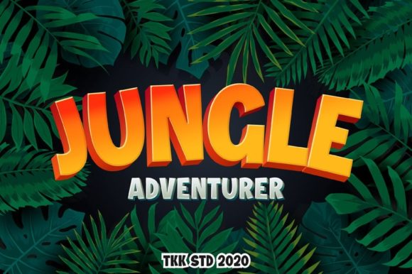 Print on Demand: Jungle Adventurer Display Font By tokokoo.studio