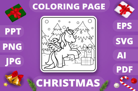 KDP   Christmas Coloring Book for Kids 4 Graphic Item