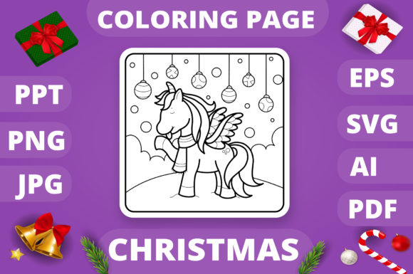 KDP   Christmas Coloring Book for Kids 4 Graphic Design