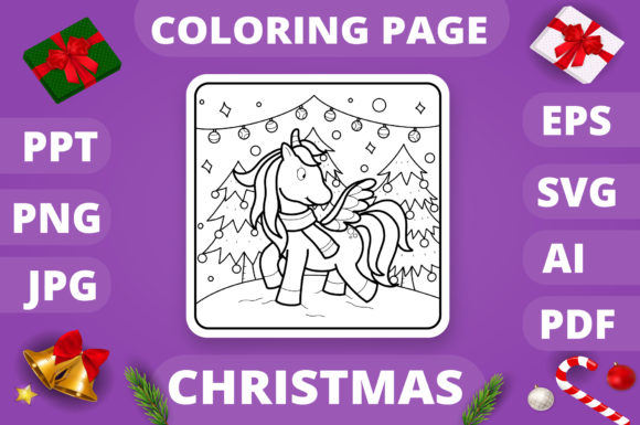 KDP   Christmas Coloring Book for Kids 4 Graphic Popular Design