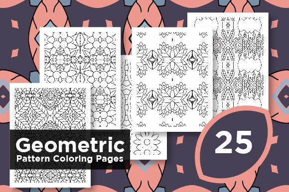 Print on Demand: Kdp Pattern Pages - Geometric Shape Graphic Coloring Pages & Books Adults By Riduwan Molla