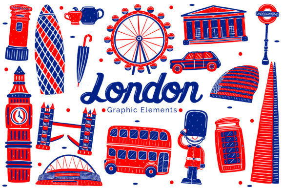 London Landmark Graphic Elements Graphic Illustrations By medzcreative