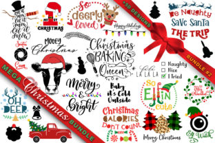 Print on Demand: MEGA Christmas SVG Bundle 2 Graphic Crafts By freelingdesignhouse