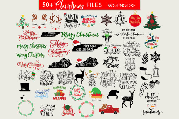 MEGA Christmas SVG Bundle 4 Graphic Download