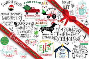 Print on Demand: MEGA Christmas SVG Bundle 5 Graphic Crafts By freelingdesignhouse