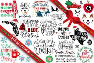 Print on Demand: MEGA Christmas SVG Bundle 6 Grafik Plotterdateien von freelingdesignhouse