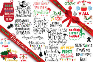 Print on Demand: MEGA Christmas SVG Bundle 7 Graphic Crafts By freelingdesignhouse