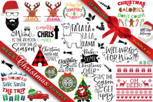Print on Demand: MEGA Christmas SVG Bundle 8 Graphic Crafts By freelingdesignhouse