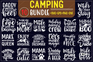 Camping Bundle Graphic Print Templates By creative store.net