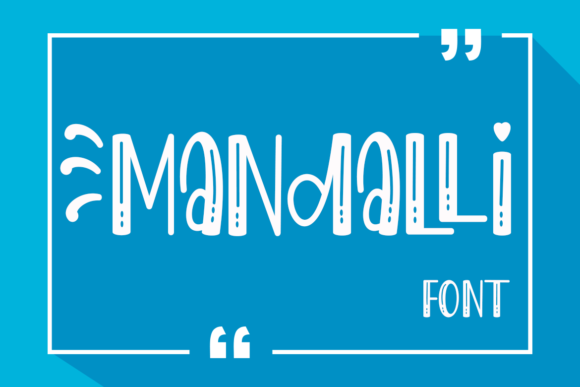Print on Demand: Mandalli Display Font By Supersemar Letter