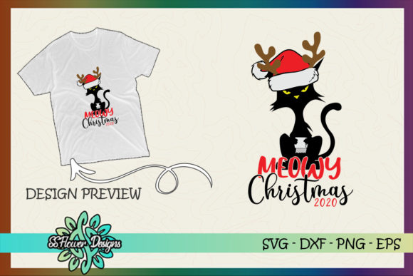 Meowy Christmas Toilet Paper Christmas Graphic Print Templates By ssflower