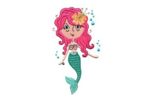 Mermaid Toodle Fairy Tales Embroidery Design By Sew Terific Designs