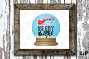 Print on Demand: Merry and Bright,Merry Crystal Ball Graphic Crafts By KtwoP