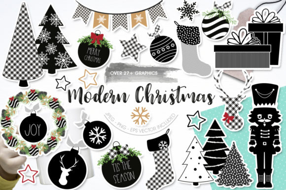 Print on Demand: Modern Christmas Graphic Graphic Templates By Prettygrafik