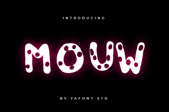 Print on Demand: Mouw Decorative Font By Typekamu