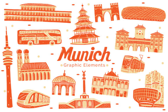 Munich Landmark Graphic Elements Graphic Illustrations By medzcreative