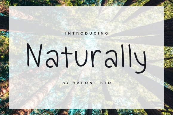 Print on Demand: Naturally Display Font By Typekamu