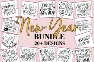 Print on Demand: New Year Bundle SVG New Year's Design Graphic Crafts By freelingdesignhouse