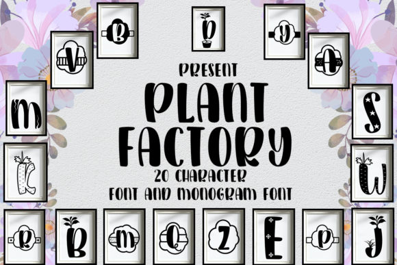 Print on Demand: Plant Factory Display Font By jehansyah251