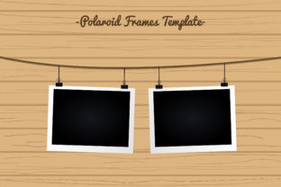 Polaroid Frame Template Graphic Backgrounds By Aradevi