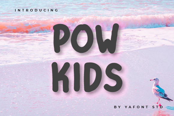 Print on Demand: Pow Kids Display Font By Typekamu