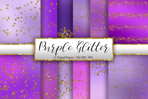 Purple Glitter Background Digital Papers Graphic Backgrounds By PinkPearly