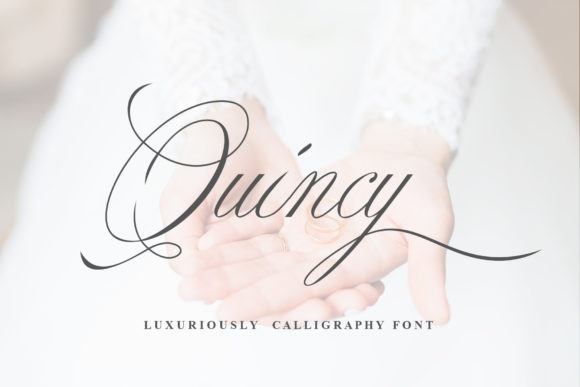 Print on Demand: Quincy Script & Handwritten Font By TheWinner