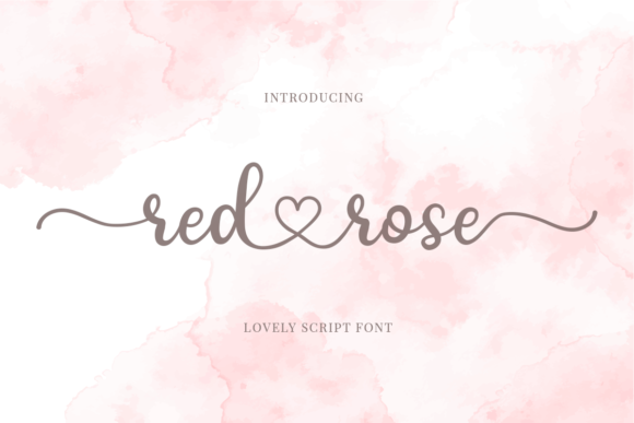 Print on Demand: Red Rose Script & Handwritten Font By josgandos