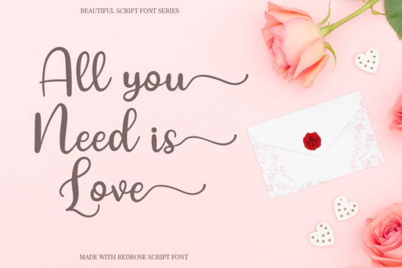 Red Rose Font Preview