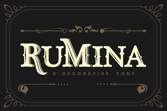 Print on Demand: Rumina Serif Font By TheWinner