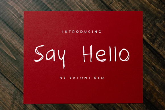 Print on Demand: Say Hello Script & Handwritten Font By Typekamu