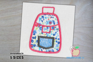 School Bag Pack Applique Pattern Back to School Embroidery Design By embroiderydesigns101