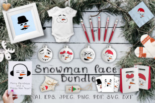 Print on Demand: Snowman Face Graphic Illustrations By OK-Design