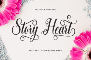 Print on Demand: Story Heart Script & Handwritten Font By LetterFreshStudio