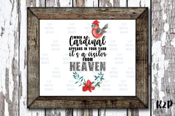 Print on Demand: Sublimation Christmas Cardinal Clipart Graphic Illustrations By KtwoP