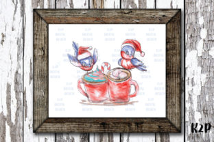 Print on Demand: Sublimation Christmas Cardinal Hot Drink Graphic Illustrations By KtwoP