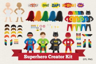 Superhero Creator Kit Clipart Vector Graphic Illustrations By peachycottoncandy