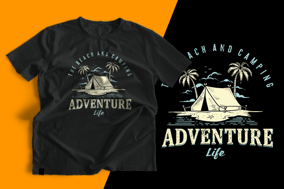 T-shirt Design - Adventure Life Graphic Print Templates By cithu09