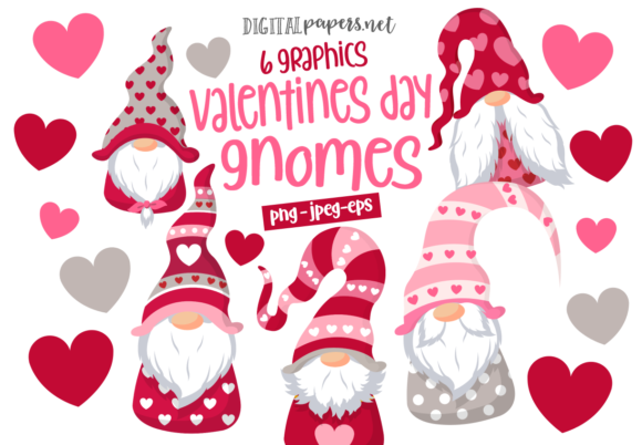 Print on Demand: Valentines Day Gnomes Graphic Illustrations By DigitalPapers