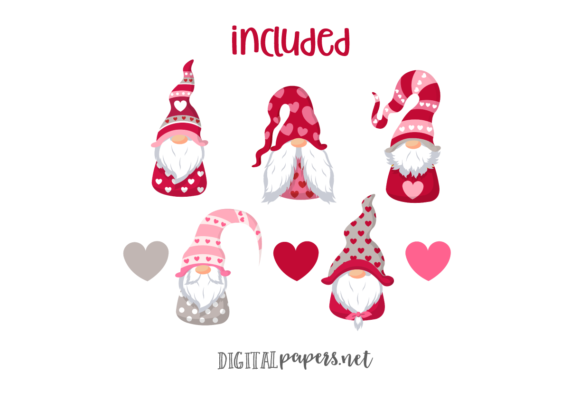 Valentines Day Gnomes Graphic Download